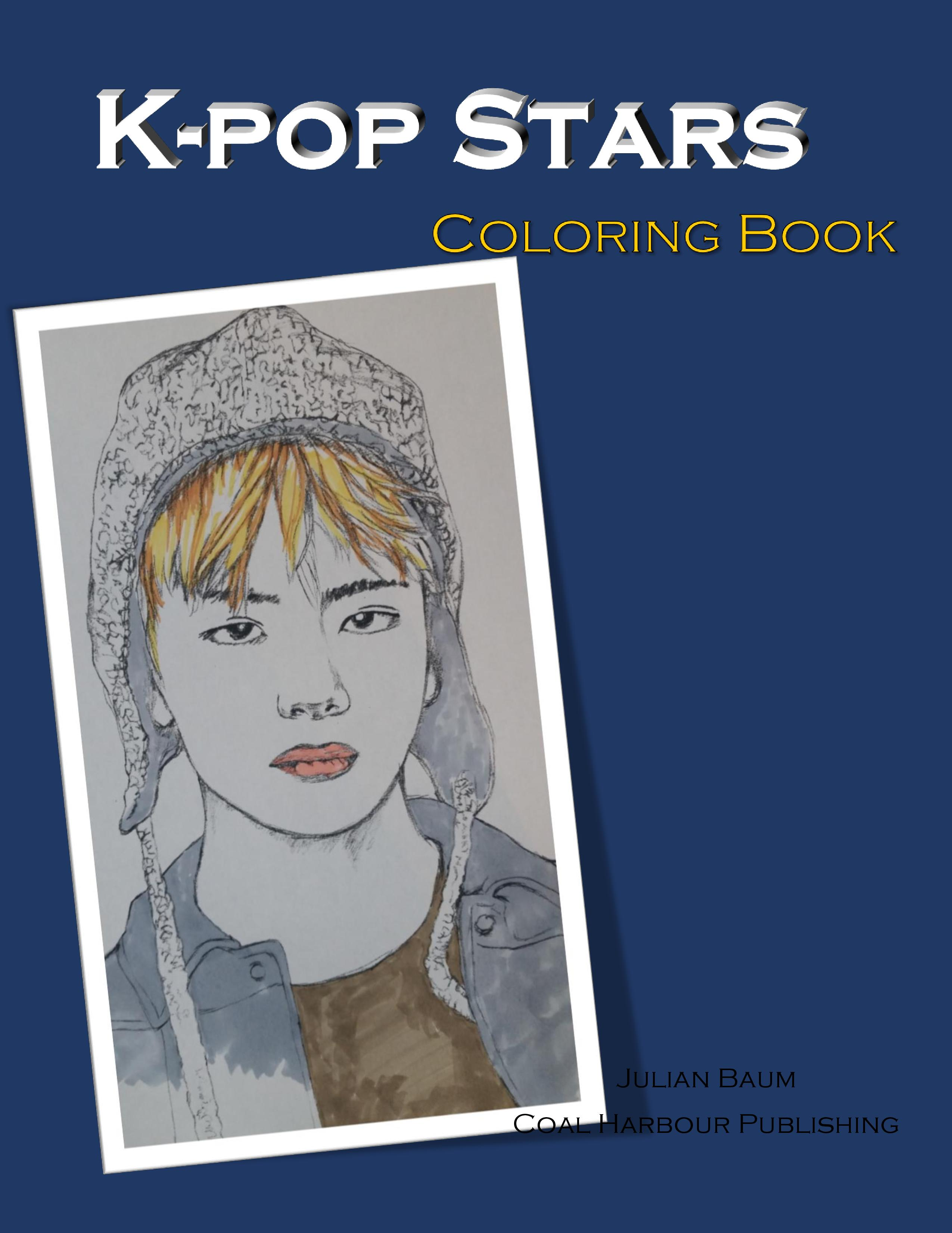 Book Come From Popular K Pop Bands Such As Big Bang Super Junior EXO BTS And Many More Take Your Favorite Medium Of Coloring Make The Drawings